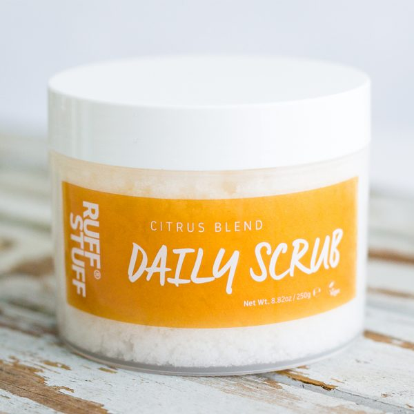 Ruff Stuff daily exfoliating body scrub citrus blend