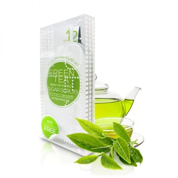 voesh green tea mani in a box 3 step