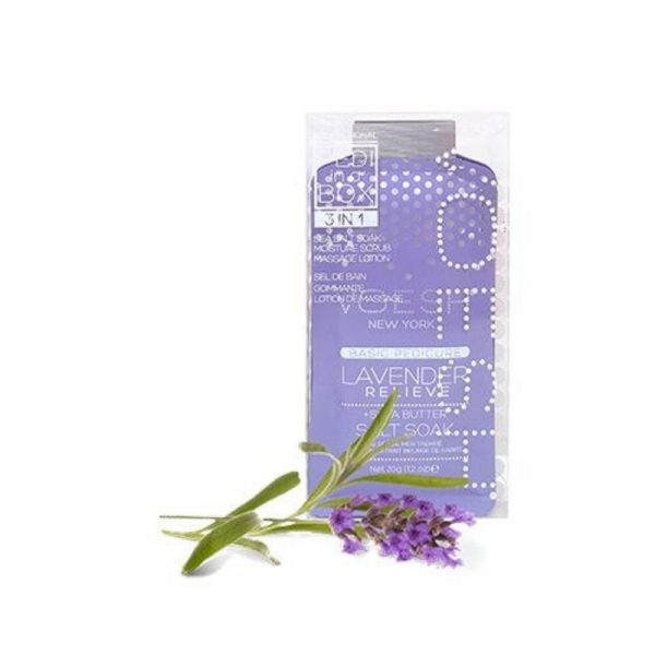 voesh lavender relieve 3 step pedi